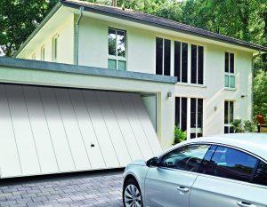 Olika modeller på Hörmann garageportar finns som vipportar